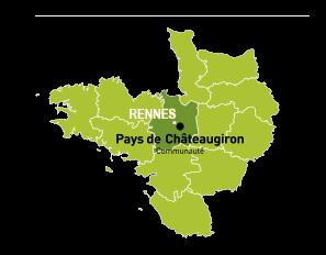 carte du pays de Châteaugiron communauté